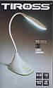 Настольная светодиодная лампа Tiross TS-1823 аккумуляторная 900 mAh, USB, 220v, 20 smd LED, touch выключатель, фото 5