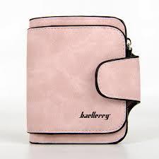 Baellerry Forever Mini Женский Замшевый Кошелёк,портмоне цвет пудровый