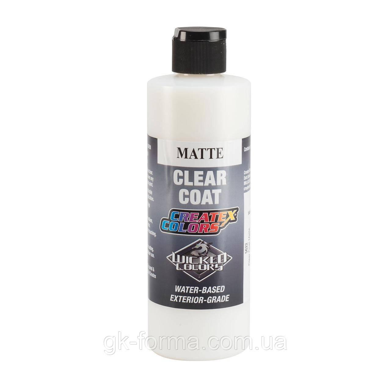 Матовый прозрачный лак для красокCreatex Clear Coat Matte 5622, 60 мл