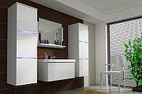 Комплект мебели в ванную комнату LUMIA корпус белый / фасад белый глянцевый