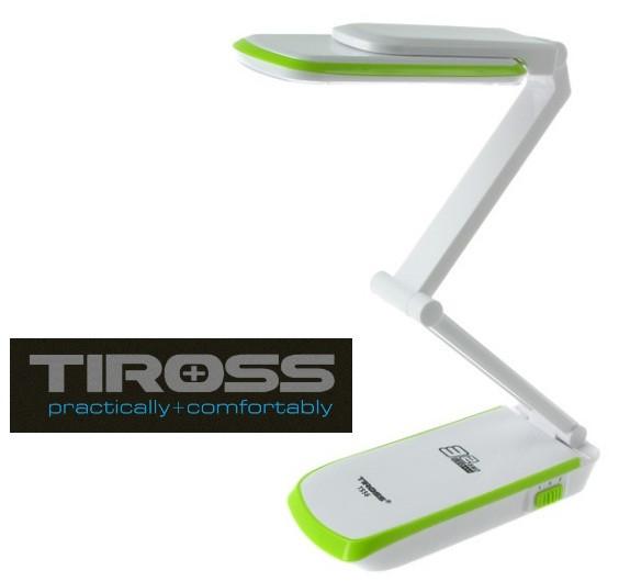 Настольная светодиодная лампа трансформер Tiross TS-56 Green аккумуляторная 2000 mAh, 220v, 32 smd LED
