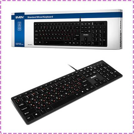 Клавиатура SVEN Elegance 5600 USB+HUB, Black, фото 2