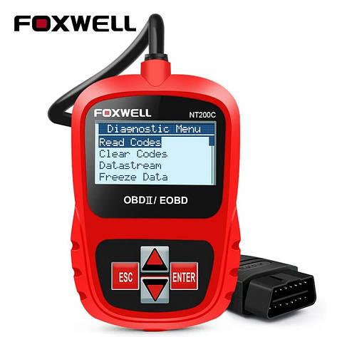 Диагностический автосканер FOXWELL NT200C OBD2 инструмент диагностики, лучше чем ELM327, фото 2