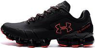 Мужские кроссовки Under Amour Scorpio Black Red (андер армор скорпио, черные/красные)