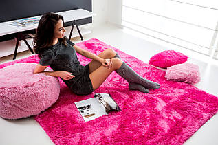 Плюшевий килим Шаггі 160x230 рожевий