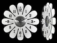 Часы Настенные Фигурные (39х39х5 см) Дерево. Marguerite. Ромашка. Белый