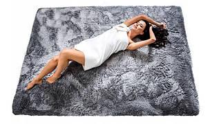 Плюшевий килим Шаггі 180x260 сірий