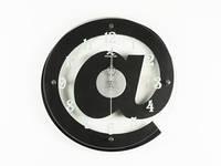 Часы Настенные Фигурные (35х35х5 см) Дерево. Sur@. При@. Черный. Красный