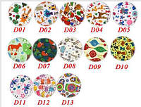 Многоразовые непромокаемые прокладки для груди из Бамбука Цветные