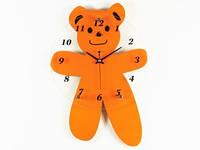 Часы Настенные Фигурные (44х30х5 см) Дерево. Teddy-bear. Мишка. Оранжевый
