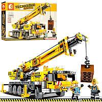 Конструктор - строительная техника - подъемный кранна 665 деталей, копия лего 701800
