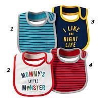 Набор слюнявчиков из 2-х штук для мальчика Carters мамин монстрик