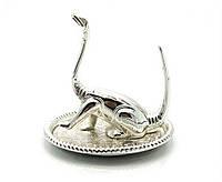 """Подставка под кольца """"динозавр"""" (9х8,5х7,5 см)(2569lq+)""""серебро"""""""