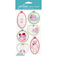 Наклейки 3D - Baby Girl -  EMBROIDERY HOOPS - Jolee's Boutique