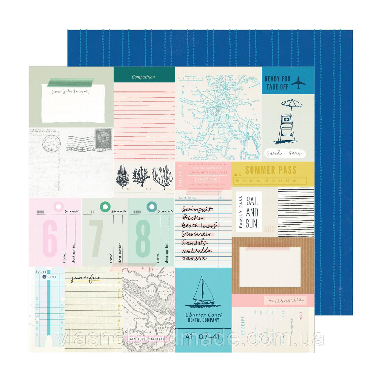 Папір двосторонній - Beach Day- Sunny Days - Maggie Holmes - 30x30