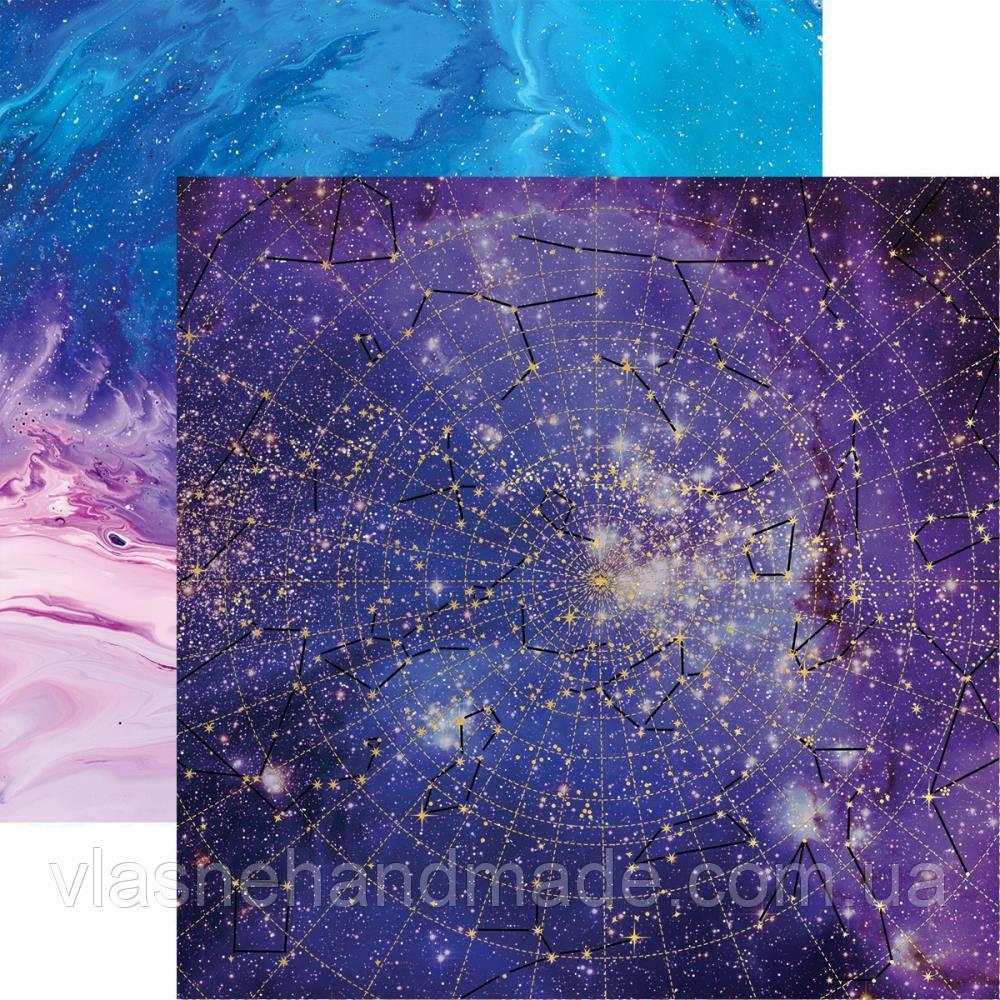 Папір двосторонній з фольгуванням - Foiled Star Chart - Stargazer - Paper House - 30x30