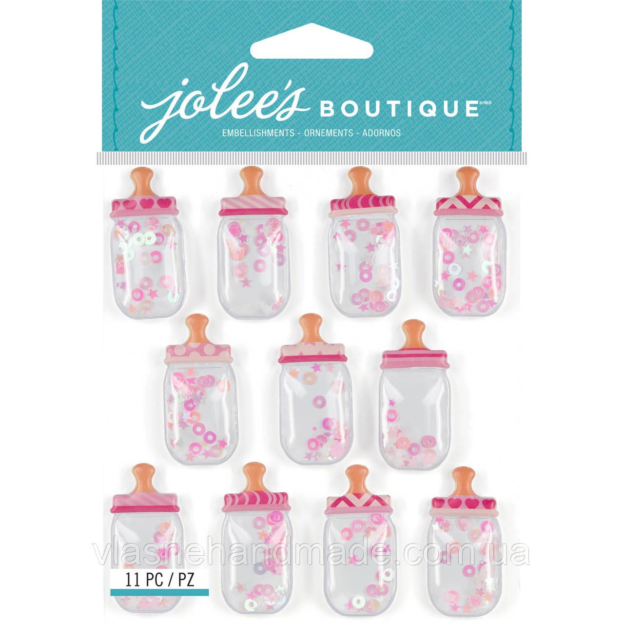 Шейкери - BABY GIRL BOTTLES - Jolee's Boutique - 3.5х1.8 см Ціна за 1 шт.!!!