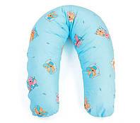 Подушка для беременных и кормления ребенка хлопковая (холлофайбер) Womar (164 х 70 см)