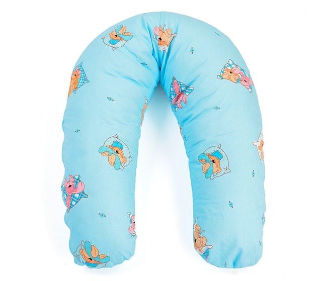 Подушка для беременных и кормления ребенка хлопковая (холлофайбер) Womar (164 х 70 см) - интернет-магазин Mamin в Киеве