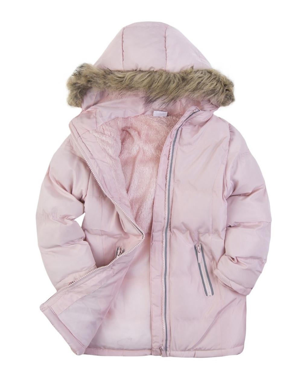 Детская зимняя куртка с опушкой на девочку Польша Размер 122