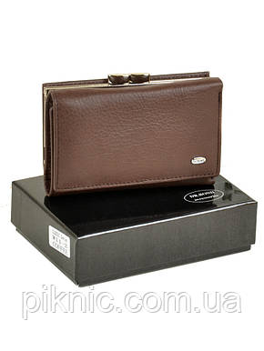 Компактный кожаный женский кошелек на магните Dr Bond. Из натуральной кожи., фото 2