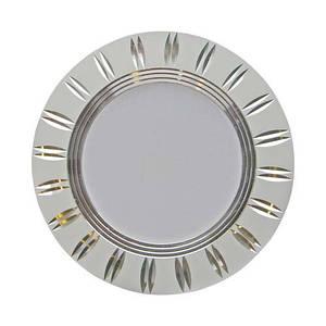 Точечный встраиваемый светильник LED Feron AL779 5W серебро