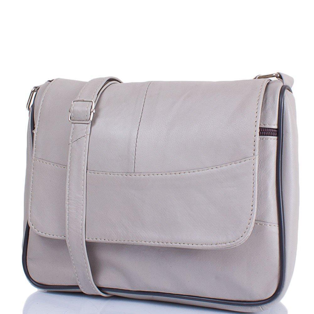 3ae37b2955d2 Женская кожаная сумка-почтальонка TUNONA Серая (SK2416-9): продажа ...