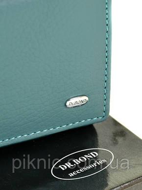 Компактный кожаный женский кошелек на кнопке Dr Bond. Из натуральной кожи., фото 2
