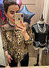 Шифоновая блуза с леопардовым принтом. Размер: 42-44. Цвет: леопард (0439), фото 2