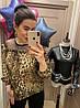 Шифоновая блуза с леопардовым принтом. Размер: 42-44. Цвет: леопард (0439), фото 3