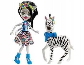 Кукла Энчантималс Зелена Зебра и друг Хуфитт / Enchantimals Zelena Zebra Doll & Hoofette Figure