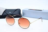 Солнцезащитные очки круглые Rb3594 коричневые