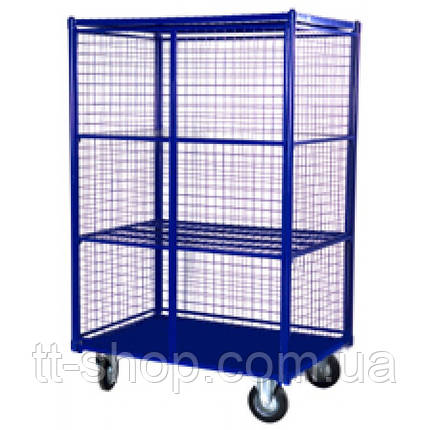 Сетчатые шкафы с металлическим днищем (сетчатый контейнер).Серия ШСМ 6 (без полок)., фото 2
