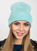 Удлиненная шапка-колпак с жемчугом Molly