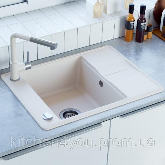Гранітна мийка AquaSanita Bella SQB-102 (670х500 мм.)