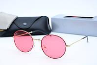 Солнцезащитные очки круглые Rb3594 с9 розовые