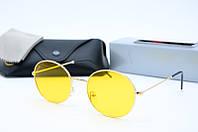 Солнцезащитные очки круглые Rb3594 с10 желтые