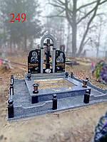 Памятник двойной из гранитов покостовка и базальта, фото 1