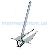 Якорь Danforth, нержавеющая сталь, 22 кг.