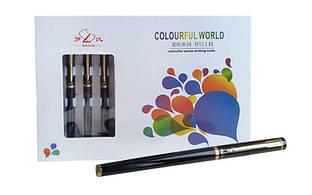 Ручка чернильная с закрытым пером металлическая черная