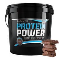 Ізолят протеїновий Biotech Protein Power з додаванням L-глютаміна і BCAA зі смаком шоколаду (4000 гр.)