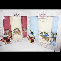 Набор турецких полотенец 3-ка Asmina/Hibiscus