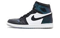 Баскетбольные кроссовки Nike Air Jordan Retro 1 High OG Black White Iridescent All-Star
