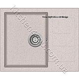 Гранітна мийка AquaSanita Tesa SQT-102 (620х500 мм.), фото 5