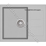Гранітна мийка AquaSanita Tesa SQT-102 (620х500 мм.), фото 8