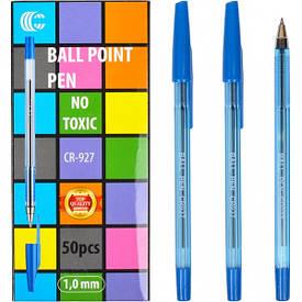 Ручка шариковая 927 «С» синяя  1 упаковка (50 штук)                       С-927