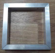 Алюминиевая рамка из квадратной или прямоугольной трубы, крепление под 45 град, фото 3