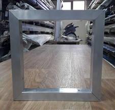 Алюминиевая рамка из квадратной или прямоугольной трубы, крепление под 45 град, фото 2