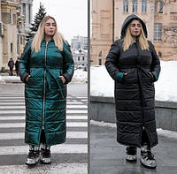 Женское зимнее двухстороннее пальто, с 42 по 82 размер, фото 1