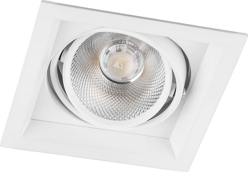 Карданный  точечный светильник Feron AL201 12W LED белый